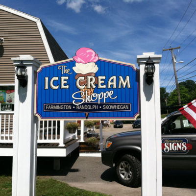 This colourful sign for The Ice Cream Shoppe is a welcome sight on a hot summer day, drawing in the crowds at all 3 locations.
