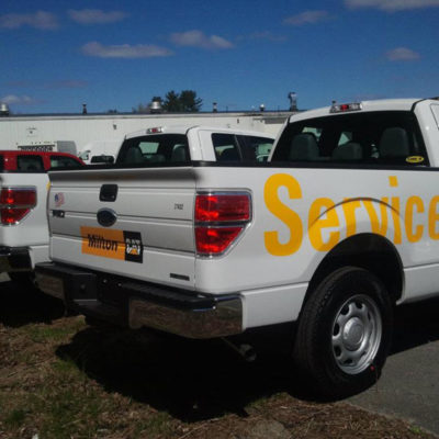 Lettering on pickups for Milton Cat